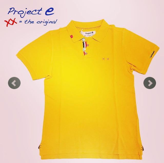 Project e プロジェクトイー ポロシャツ イエロー ヴィンテージウォッシュ SLIM 910991364026 / projecte プロジェクト イー 鹿の子