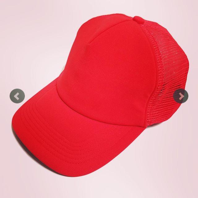 UNDERCOVER アンダーカバー ソフトメッシュCAP THUNDER em レッド UCW4H02-2 /キャップ 帽子