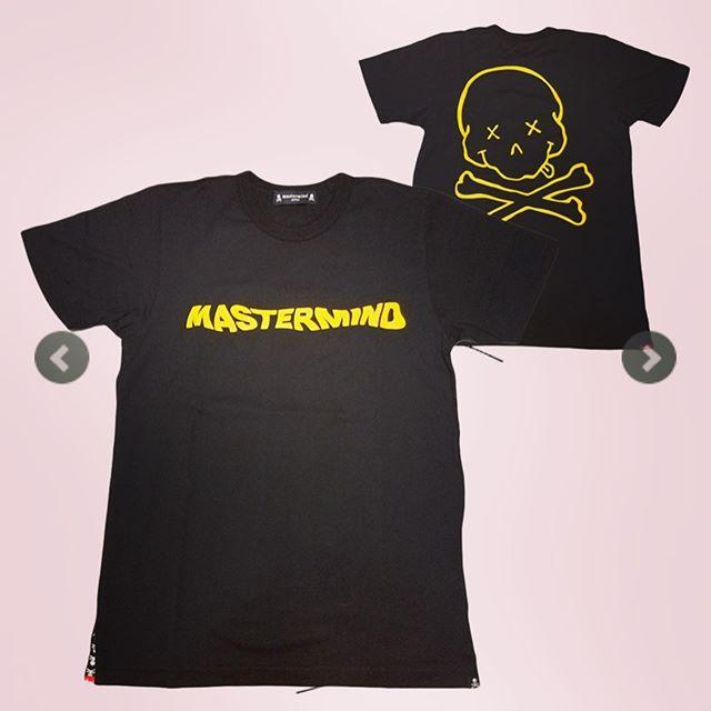 mastermind JAPAN マスターマインドジャパン 半袖Tシャツ 天竺 レギュラーフィット プリント ブラック MJ18E02-TS093-016