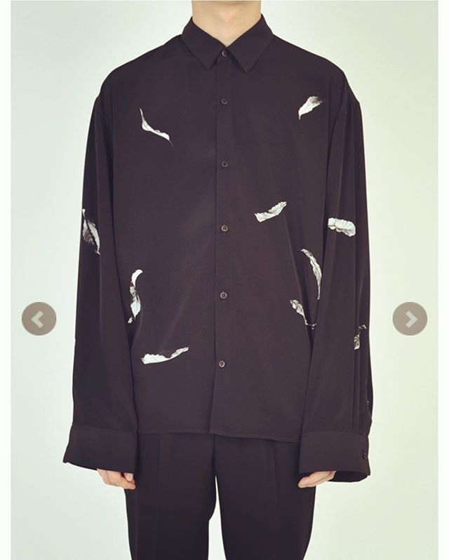 LAD MUSICIAN ラッドミュージシャン BIG SHIRT ビッグシャツ ブラック×ホワイト 2219-134