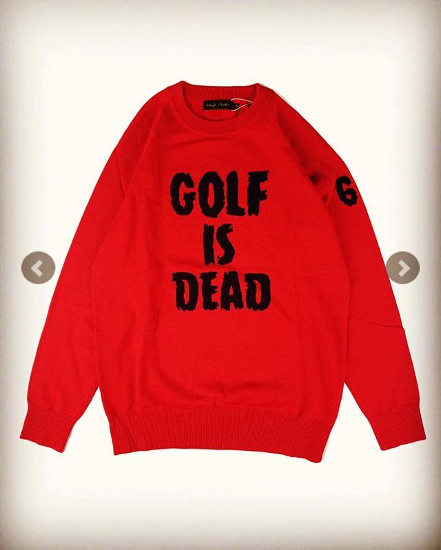 【商品紹介】rough&swell ラフアンドスウェル クルーネックニット レッド G.I.D. KNIT RSM-19264 / ラフ&スウェル ゴルフウェア メンズ ・・ミスショットしたときは、このメッセージを見せて!(笑) ・・#roughandswell #ラフアンドスウェル #roughandswell好きと繋がりたい #ラフアンドスウェル取扱店 #golfwear #golffashion #ゴルフウェア #ゴルフウェアブランド #ゴルフファッション #alleycompany #alleyonlineshop #mood #セレクトショップ ・・#markandlona #マークアンドロナ も取り扱い