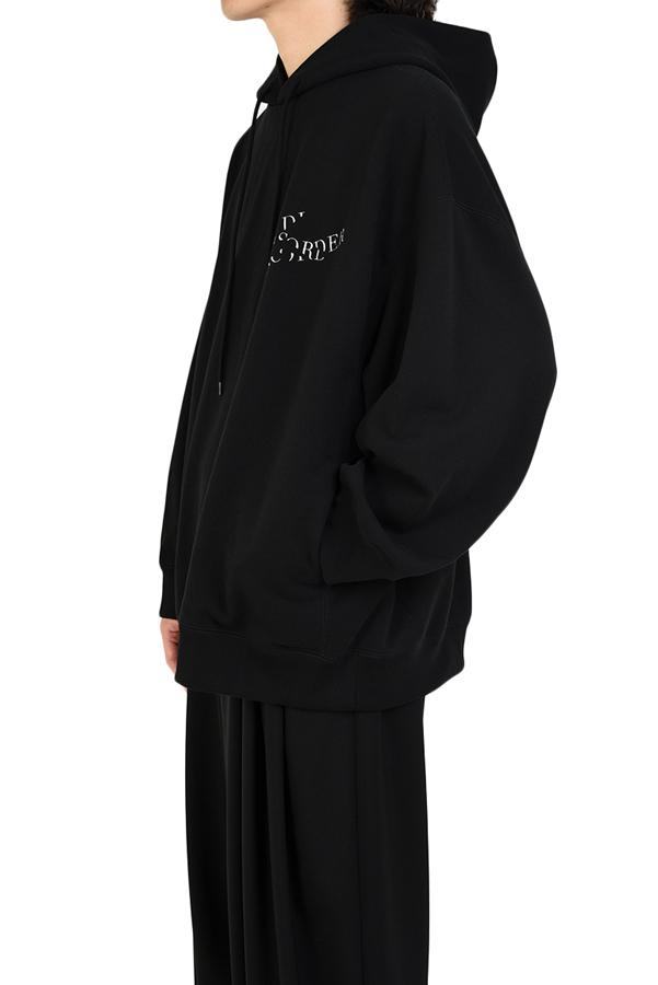LAD MUSICIAN ラッドミュージシャン スーパービッグ プルオーバーパーカー ブラック SUPER BIG PULLOVER PARKA 2219-609
