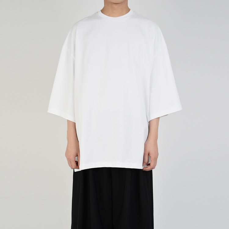 LAD MUSICIAN ラッドミュージシャン SUPER BIG T-SHIRT スーパービッグTシャツ ホワイト 2219-710