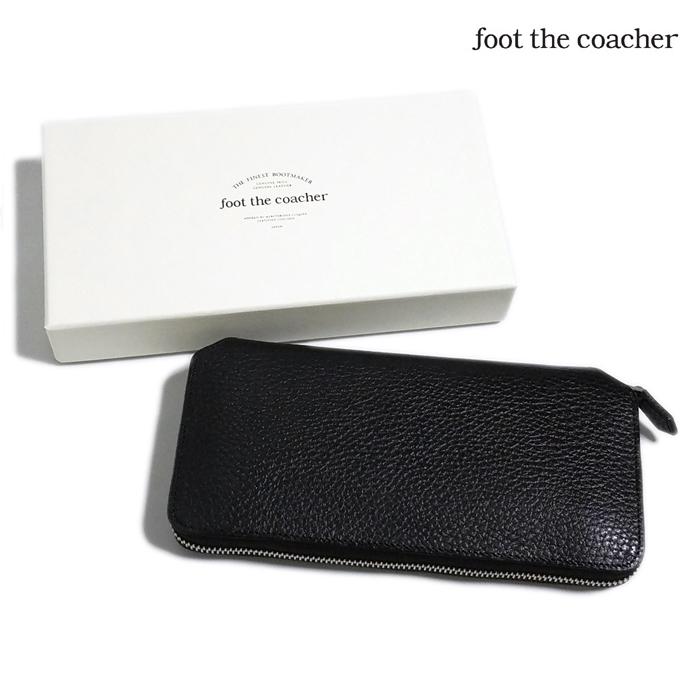 foot the coacher フットザコーチャー ロングジップウォレット ブラックxホワイト LONG ZIP WALLET FTA1712007 / 財布 サイフ ラウンドファスナー-1