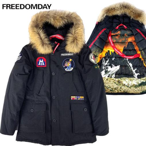 FREEDOMDAY フリーダムデイ ファー ダウンジャケット ブラック NEW CAMPIGLIO 920241114018 / ダウン