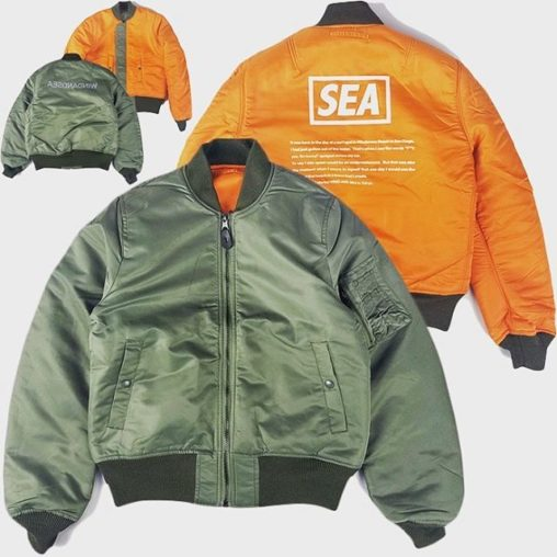 WIND AND SEA WDS REVERSIBLE MA-1 OLIVE WDS-19A-JK-07