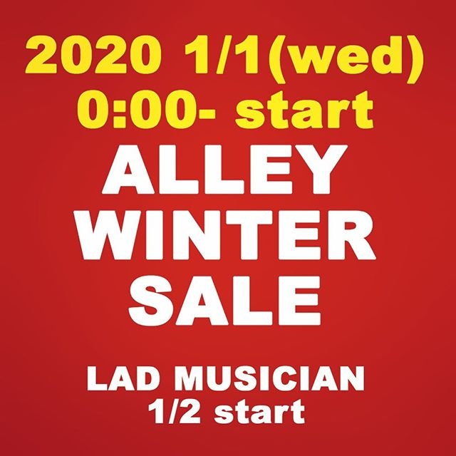 ALLEY WINTER SALE 好評開催中