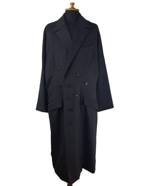sulvam サルバム Button's over coat ボタンオーバーコート ブラック SL-C01-100 / コート