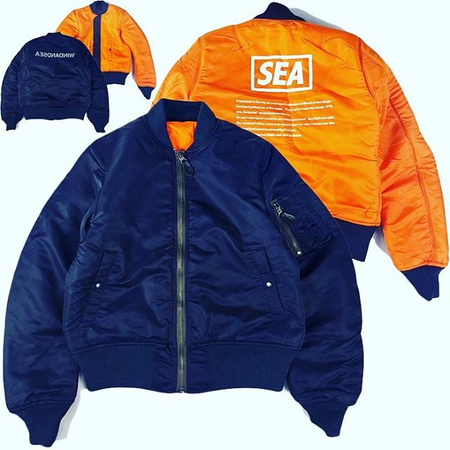 WIND AND SEA REVERSIBLE MA-1 NAVY