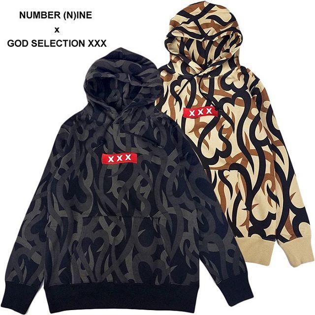 【1月25日0時発売】NUMBER (N)INE x GOD SELECTION XXX コラボレーション・プルオーバーパーカー BJ3NXC001