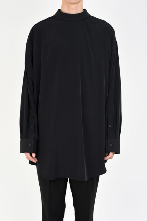 LAD MUSICIAN ラッドミュージシャン DECHINE BIG SHIRT ビッグシャツ ブラック 2120-103