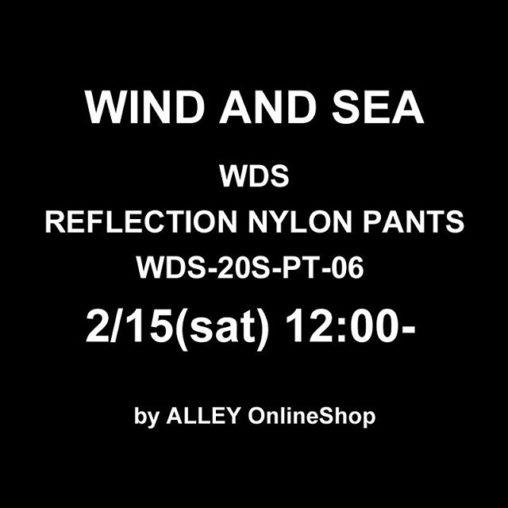 WIND AND SEA ウィンダンシー WDS REFLECTION NYLON PANTS リフレクション ナイロンパンツ ブラック WDS-20S-PT-06 /パンツ