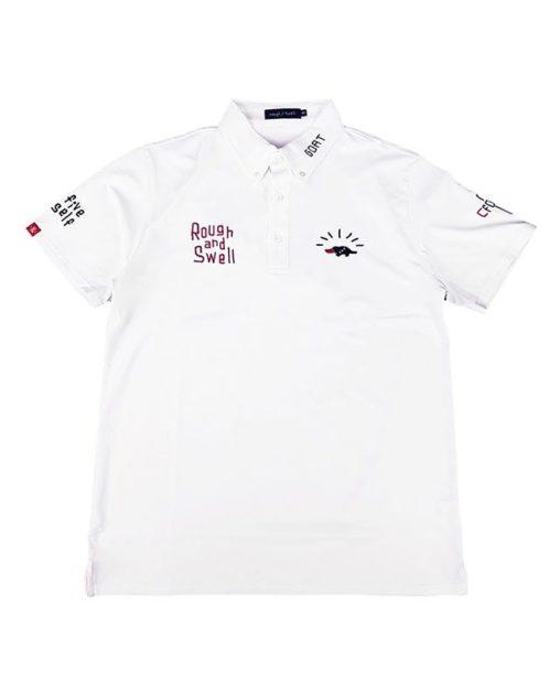 rough&swell ラフアンドスウェル HIGH FIVE TOUR POLO ポロシャツ ホワイト RSM-20003
