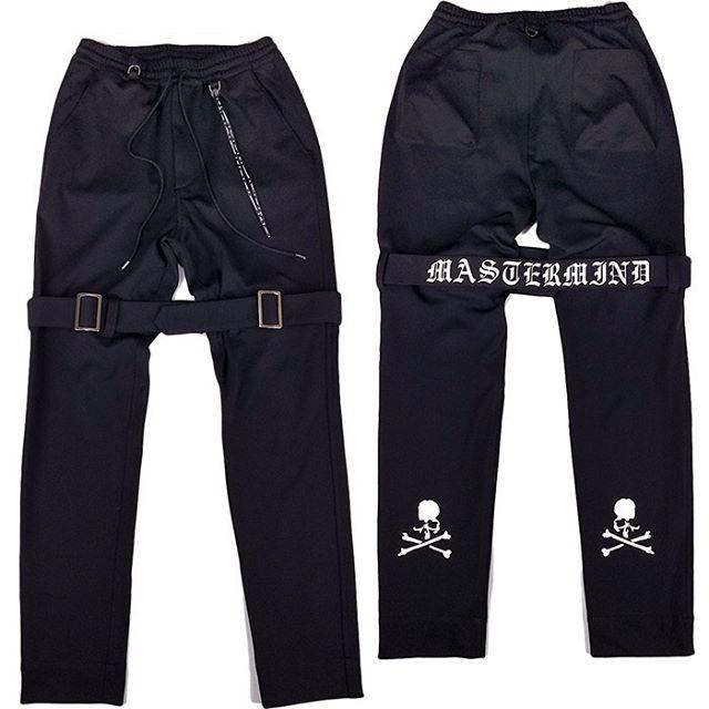 mastermind JAPAN マスターマインドジャパン ポリエステルジャージ ボンテージパンツ 2WAYシリコンプリント ブラック MJ20E04-PA030-601 / パンツ