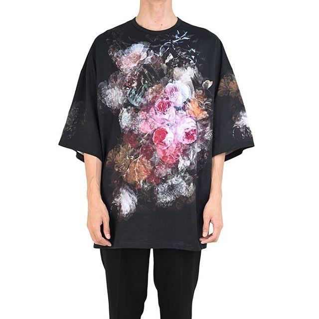 LAD MUSICIAN ラッドミュージシャン FLOWER SUPER BIG T-SHIRT 花柄 スーパービッグTシャツ ローズ 2120-712 / フラワー