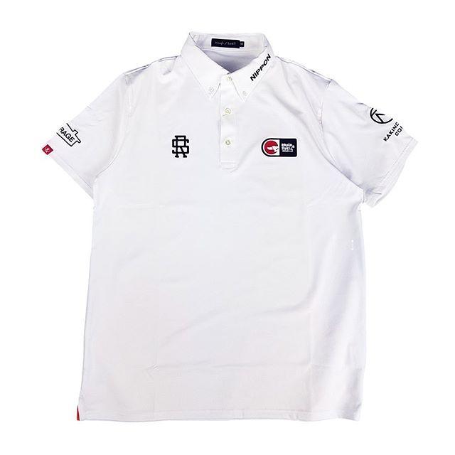 rough&swell ラフアンドスウェル 2020 TOUR POLO ポロシャツ ホワイト RSM-20001 / ゴルフウェア
