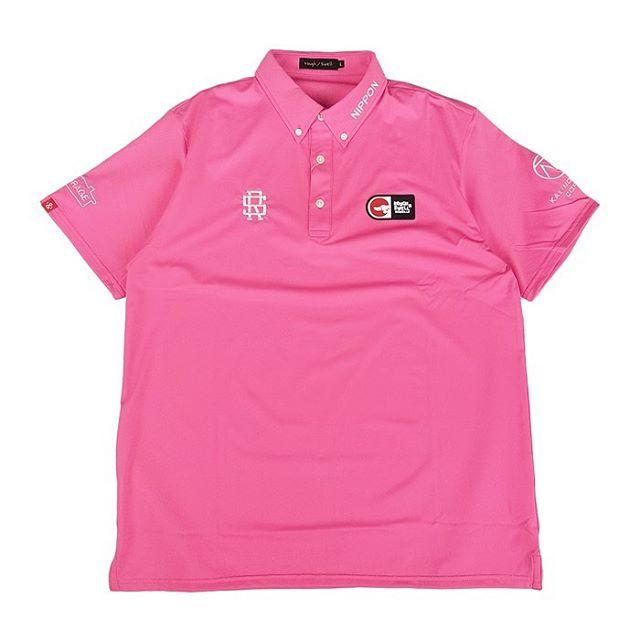 rough&swell ラフアンドスウェル 2020 TOUR POLO ポロシャツ ピンク RSM-20001 / ゴルフウェア