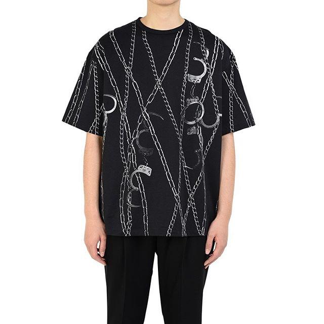 LAD MUSICIAN ラッドミュージシャン BIG T-SHIRT ビッグTシャツ ブラック×ホワイト 2120-713 / カットソー