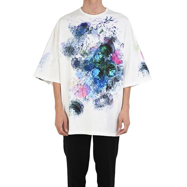 LAD MUSICIAN ラッドミュージシャン FLOWER SUPER BIG T-SHIRT 花柄 スーパービッグTシャツ ホワイト 2120-712 / フラワー
