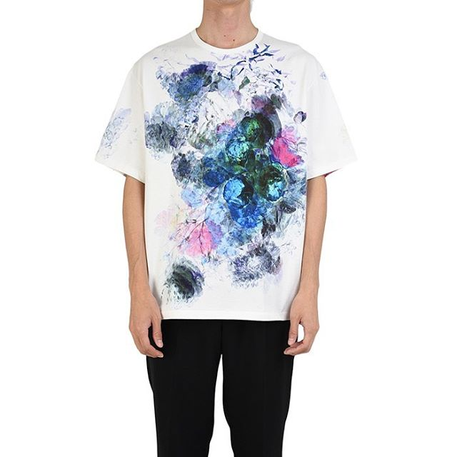 LAD MUSICIAN ラッドミュージシャン FLOWER BIG T-SHIRT 花柄 ビッグTシャツ ホワイト 2120-711 / カットソー
