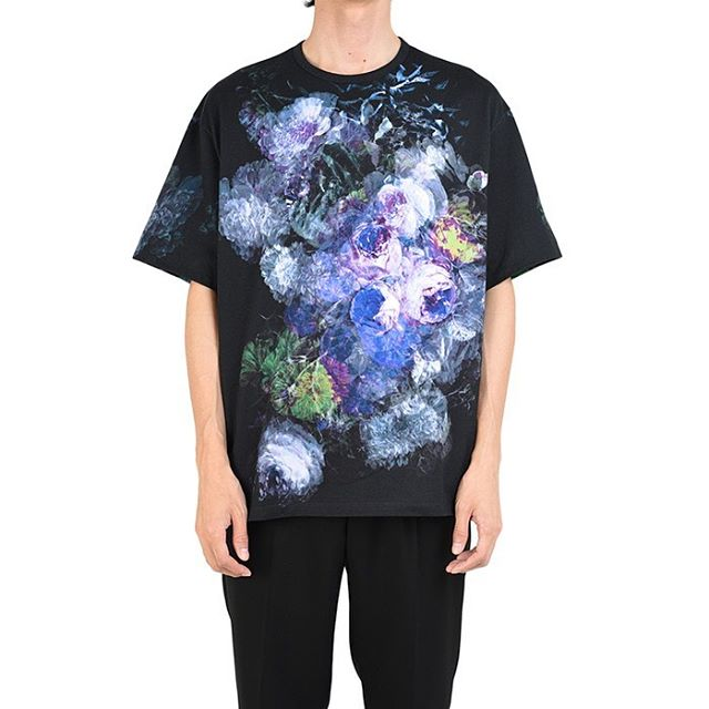 LAD MUSICIAN ラッドミュージシャン FLOWER BIG T-SHIRT 花柄 ビッグTシャツ パープル 2120-711 / カットソー