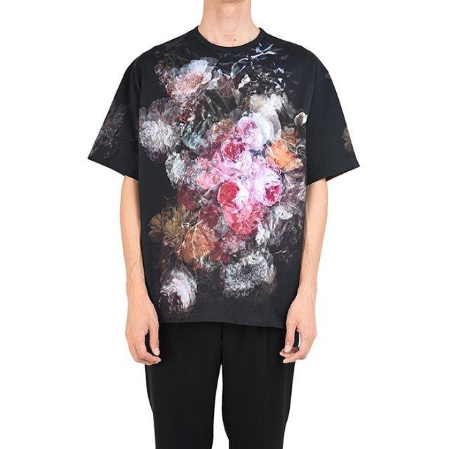 LAD MUSICIAN ラッドミュージシャン FLOWER BIG T-SHIRT 花柄 ビッグTシャツ ローズ 2120-711 / カットソー