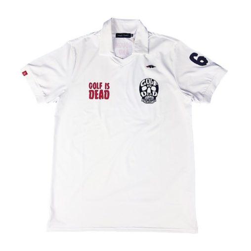 rough&swell ラフアンドスウェル SKULL SK スキッパー ポロシャツ ホワイト RSM-20026 / ゴルフウェア