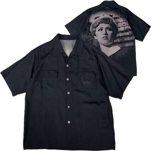 UNDERCOVER アンダーカバー テンセル開襟半袖シャツ Cindyprint #21 ブラック UCY4408-1