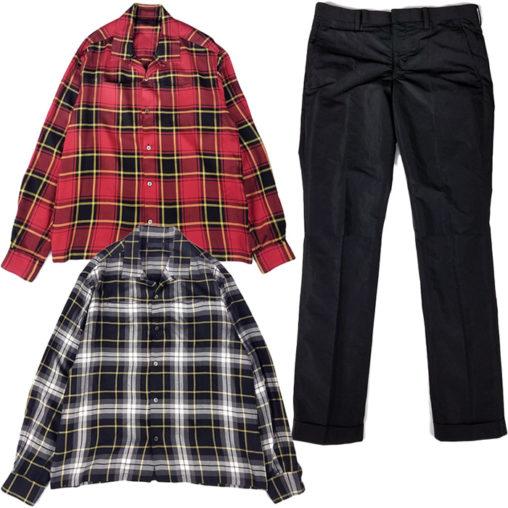 UNDERCOVER/アンダーカバー タータンチェックシャツ&メモリーウェザースラックスパンツ
