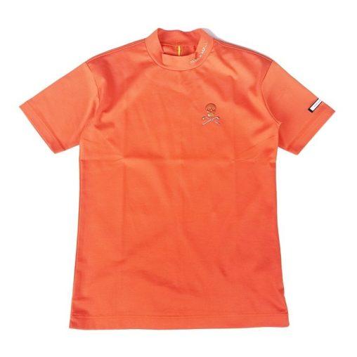 【木村拓哉さん着用モデル】MARK&LONA マークアンドロナ Titan Mock Neck Tee   MEN モックネック Tシャツ オレンジ MLM-0A-AA02
