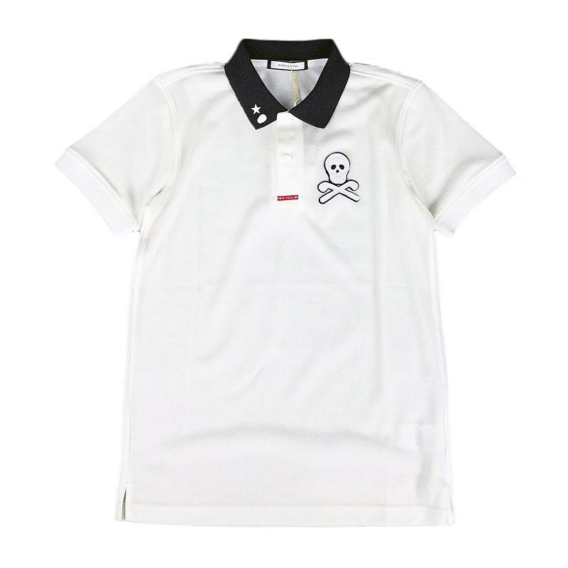 MARK&LONA マークアンドロナ Dormie ★Studs Polo | MEN ポロシャツ ホワイト MLM-0A-AP07