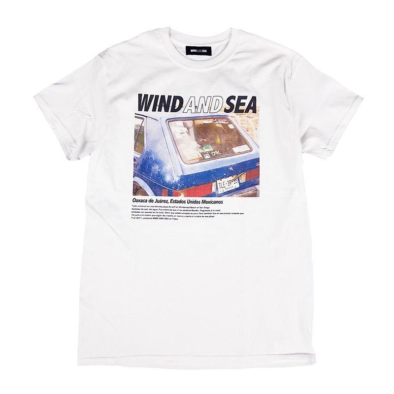WIND AND SEA ウィンダンシー WDS VIENTO(car) Tee ホワイト WDS-20S-CS-08