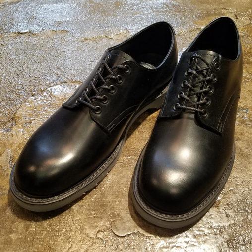 foot the coacher フットザコーチャー プレーントゥシューズ ブラック×ホワイト S.S.SHOES FTC1712001