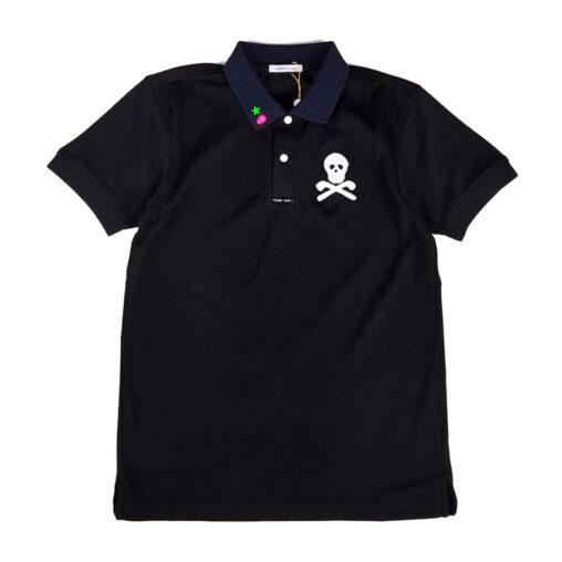 MARK&LONA マークアンドロナ Dormie ★Studs Polo   MEN ポロシャツ ブラック MLM-0A-AP07