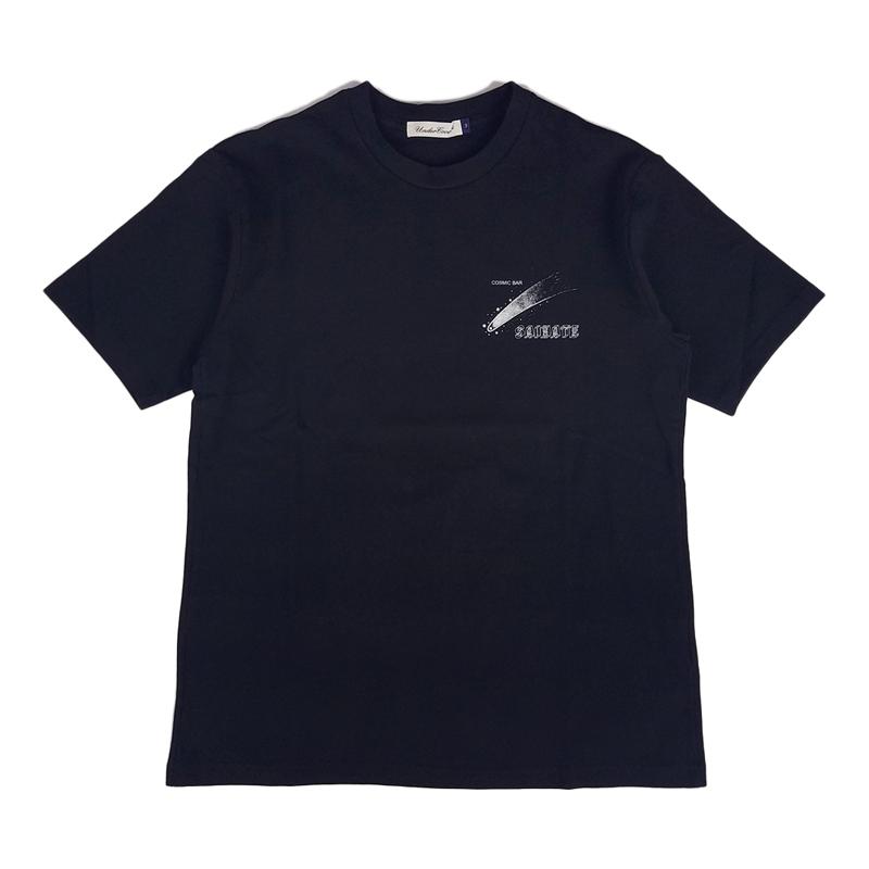 UNDERCOVER アンダーカバー TEE COSMIC BAR SAIHATE Tシャツ ブラック UCY3811 フロント