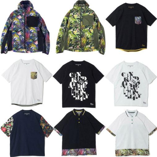 White Mountaineering/ホワイトマウンテニアリングのボタニカル柄ブルゾンやポロシャツ、Tシャツなど多数掲載
