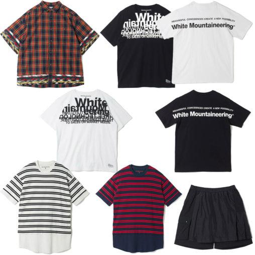 White Mountaineering/ホワイトマウンテニアリング 新作シャツ・Tシャツ・ショートパンツ