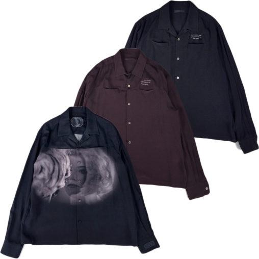 UNDERCOVER/アンダーカバーの開襟シャツ、シンディシャーマンとディラントマス
