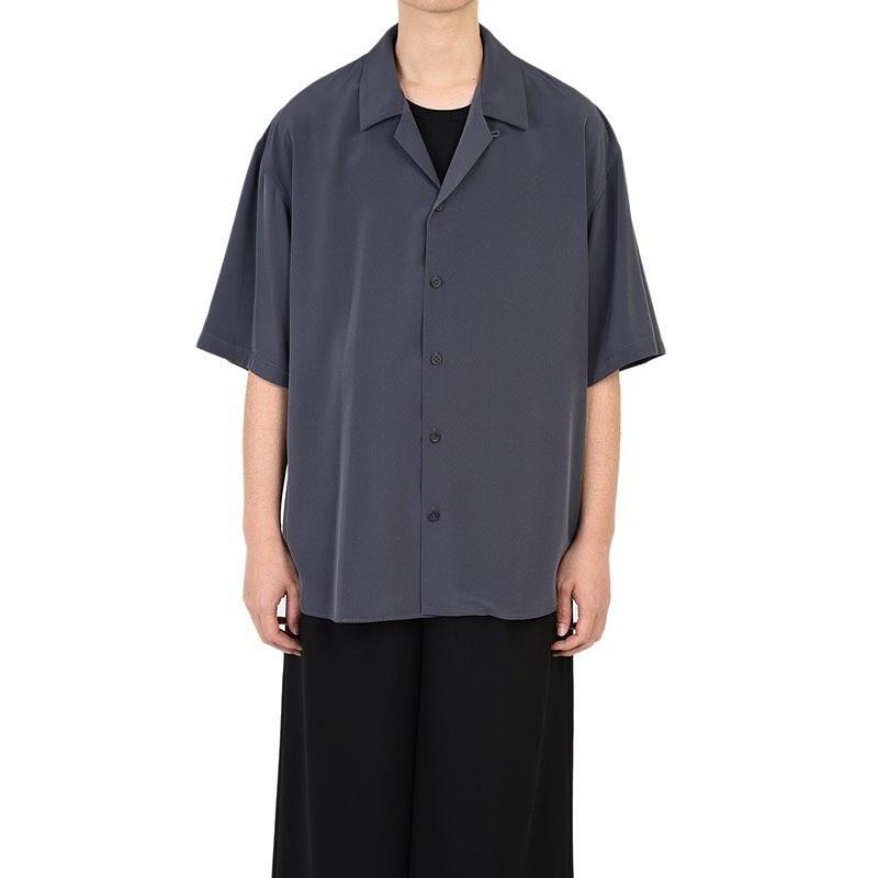 LAD MUSICIAN ラッドミュージシャン OPEN COLLAR BIG SHIRT オープンカラー 半袖ビッグシャツ パープルグレー 2320-102