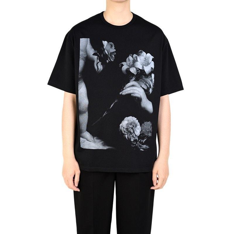 LAD MUSICIAN ラッドミュージシャン BIG T-SHIRT ビッグTシャツ ブラック 2320-802