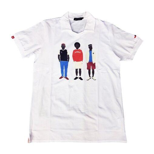 rough&swell ラフアンドスウェル THREE MEN SK スキッパー ポロシャツ ホワイト RSM-20030 / ゴルフウェア