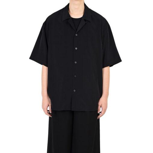 LAD MUSICIAN ラッドミュージシャン OPEN COLLAR BIG SHIRT オープンカラー 半袖ビッグシャツ ブラック 2320-102