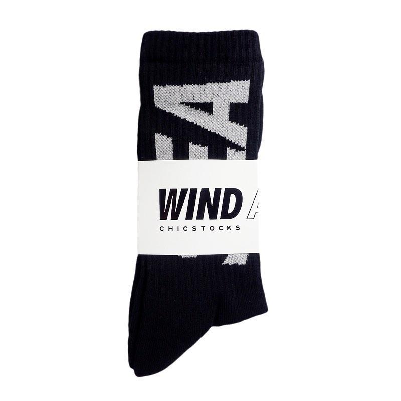 WIND AND SEA ウィンダンシー WDSxCHICSTOCKS RIB SOX WDS-20S2-GD-03 ブラック