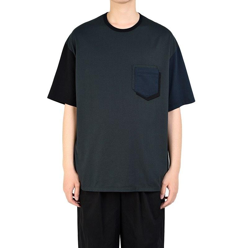 LAD MUSICIAN ラッドミュージシャン POCKET T-SHIRT ポケットTシャツ ダークグリーン 2320-712