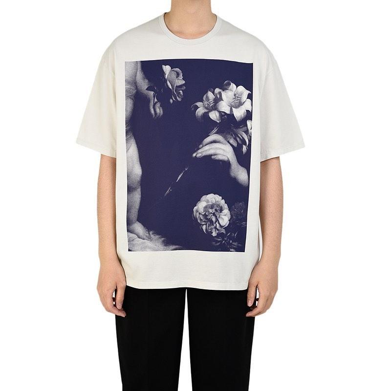 LAD MUSICIAN ラッドミュージシャン BIG T-SHIRT ビッグTシャツ ダーティホワイト 2320-802