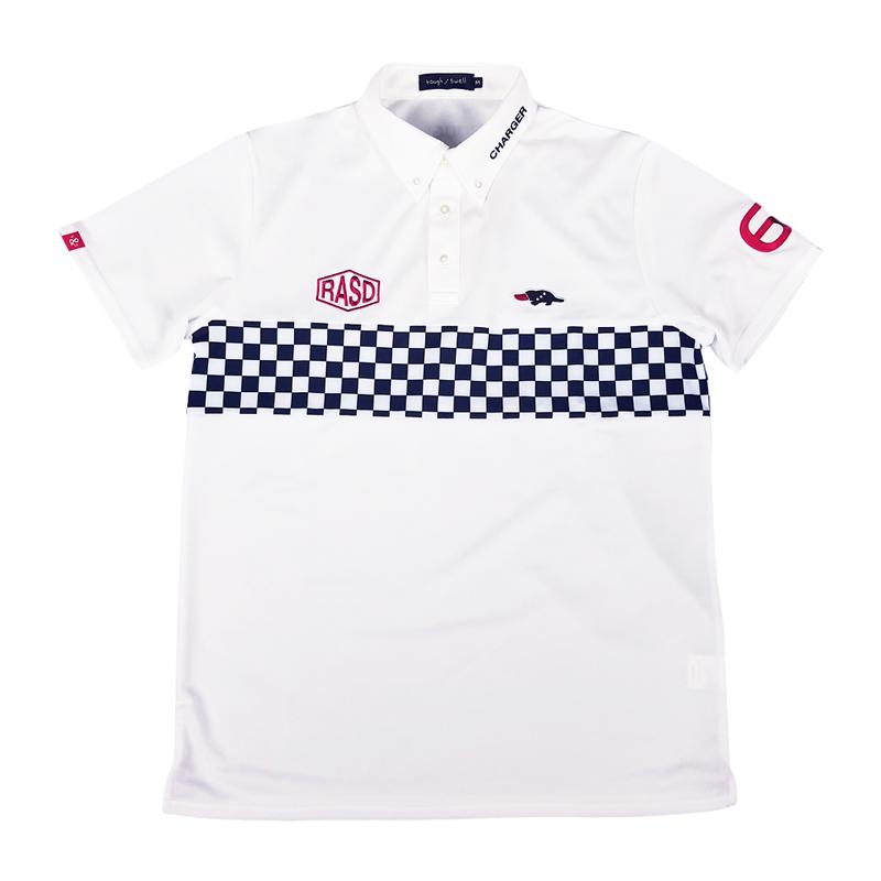 rough&swell ラフアンドスウェル GT2 TOUR ポロシャツ ホワイト×ブラック RSM-20004 / ゴルフウェア メンズ ラフ&スウェル