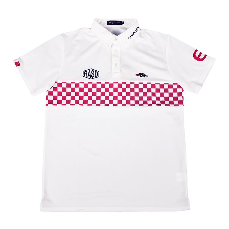 rough&swell ラフアンドスウェル GT2 TOUR ポロシャツ ホワイト×レッド RSM-20004 / ゴルフウェア メンズ ラフ&スウェル