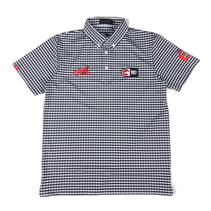 rough&swell ラフアンドスウェル PREPPY ポロシャツ ブラック RSM-20006 / ゴルフウェア ラフ&スウェル メンズ