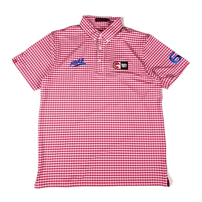 rough&swell ラフアンドスウェル PREPPY ポロシャツ レッド RSM-20006 / ゴルフウェア