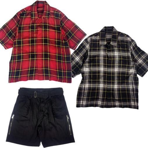 UNDERCOVER/アンダーカバー 半袖チェックシャツ&ショートパンツ